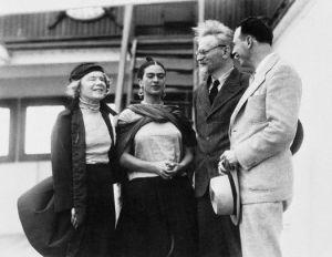 Frida Kahlo y León Trotsky.