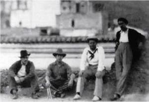 Siqueiros con Eisenstein en Taxco.