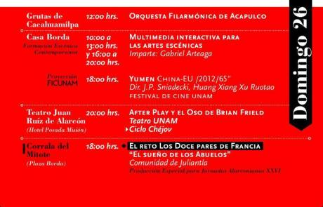 Orquesta Filarmónica de Acapulco en Grutas de Cacahuamilpa, domingo 26 mayo, 12 hrs.