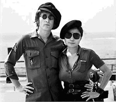 John Lennon y Yoko Ono, pareja ejemplar progresista.