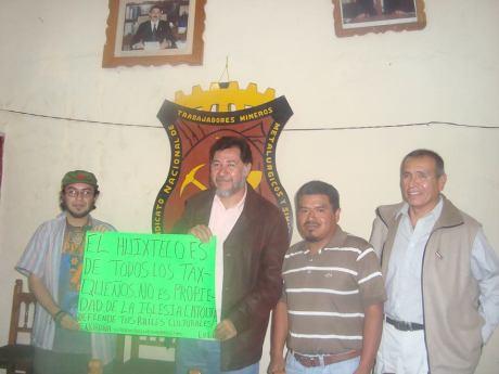 Estamos en contra del Proyecto católico fanático en el Huixteco, Taxco.