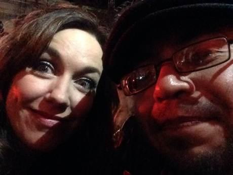 Sergio Lugo con Tania Hancheroff, una de las mejores cantantes de Rock Pop, nacida en Canadá pero vive en Nashville, es corista de Peter Cetera.