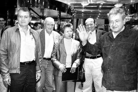Manuel Camacho Solís con López Obrador. Foto tomada de Internet.