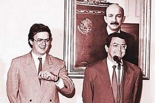 Ebrad con Camacho Solís. Foto tomada de Internet.