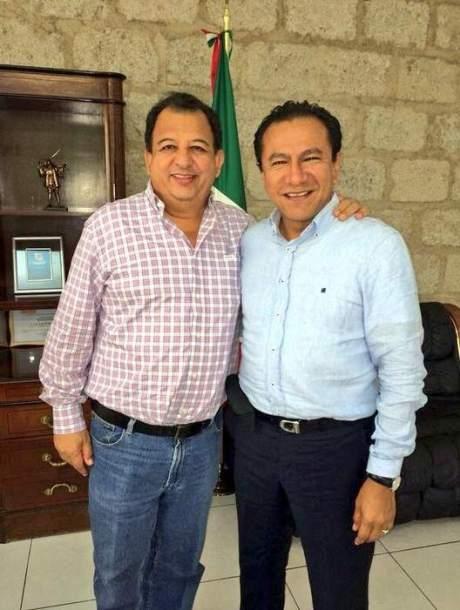 Luis Walton con Lázaro Mazón, alianza electoral. Foto tomada de Internet.
