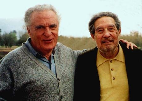 Scherer con Octavio Paz. Foto de Internet.