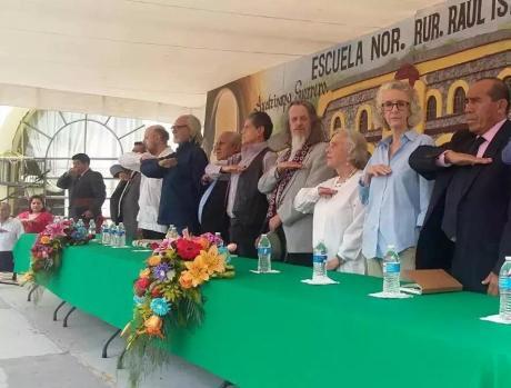 Padrinos: Arturo Miranda, Villoro, Armando Bartra, Héctor Bonilla, Retes, Poniatowska, Lamas, entre otros. Foto de Internet.