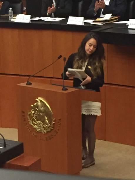 Foro de Sao Paulo, México, 2015. Foto: Sergio Lugo. Diputada de Bolivia, pero no recuerdo su nombre, excelente discurso.