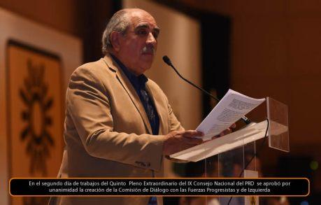 Pablo Gómez de Patria Digna. Consejo Nacional. Foto tomada del PRD.