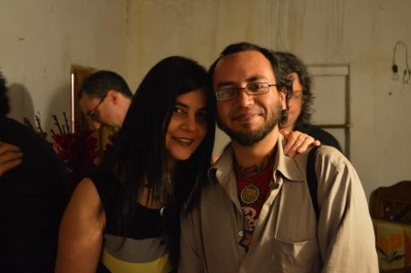 Sofía Rulloni con Sergio Lugo. Taxco, festival de guitarra 2014. Foto: José Enríquez.